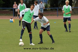 Whrend des Trainings: Wagner hlt den Ball Oliver Baum/msv-bilder.de